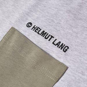 Helmut Lang Logo Patchwork Tee  Periwinkle