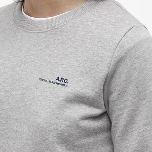 A.P.C. Logo Sweat  Heathered Light Grey