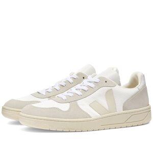 Veja V-10 Leather Basketball Sneaker  White & Natural
