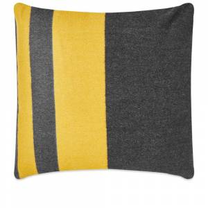 Viso Project Merino Cushion  Black & Mustard
