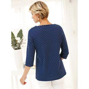 creation L Polka Dot Print Top  - Blue/Multi/White - Size: 14