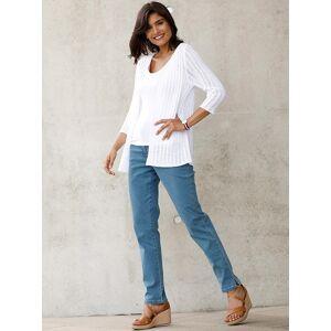 Open Knit Cardigan  - White - Size: 14