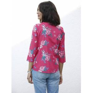 creation L Floral 3/4 Sleeve Blouse  - Blue/Multi - Size: 14