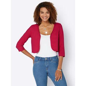 Cropped Jersey Bolero  - Red - Size: 14