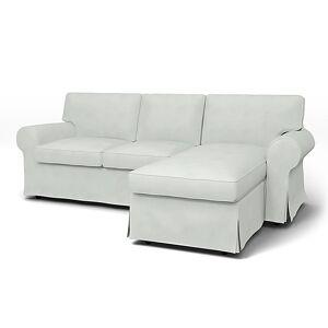 Bemz IKEA - Ektorp 3 Seater Sofa with Chaise Cover, Silver Grey, Linen - Bemz