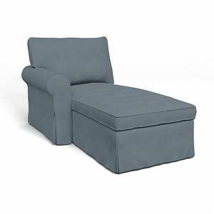 Bemz IKEA - Ektorp Chaise with Left Armrest Cover, Dusk, Linen - Bemz