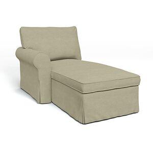 Bemz IKEA - Ektorp Chaise with Left Armrest Cover, Pebble, Linen - Bemz