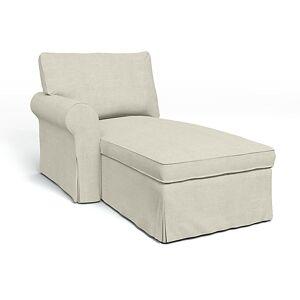 Bemz IKEA - Ektorp Chaise with Left Armrest Cover, Natural, Linen - Bemz