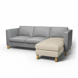IKEA - Karlanda Chaise Longue Add-on Unit Cover, Sand Beige, Cotton - Bemz