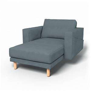 IKEA - Norsborg Stand Alone Chaise with Arms Cover, Dusk, Linen - Bemz