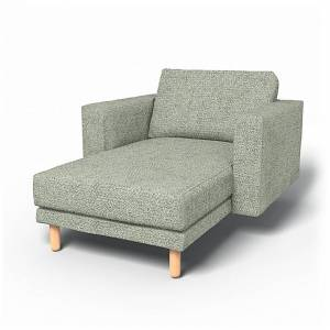 Bemz IKEA - Norsborg Stand Alone Chaise with Arms Cover, Pistachio, Wool-look - Bemz