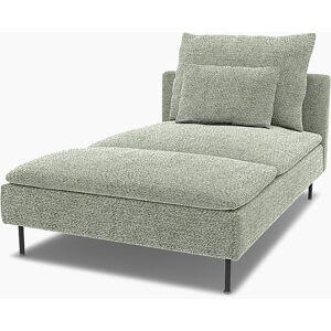 Bemz IKEA - Söderhamn Chaise Longue Cover, Pistachio, Wool-look - Bemz