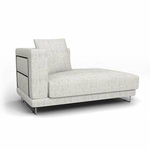 Bemz IKEA - Tylösand Chaise with Right Armrest Cover, Ivory, Wool-look - Bemz