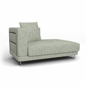 Bemz IKEA - Tylösand Chaise with Right Armrest Cover, Pistachio, Wool-look - Bemz