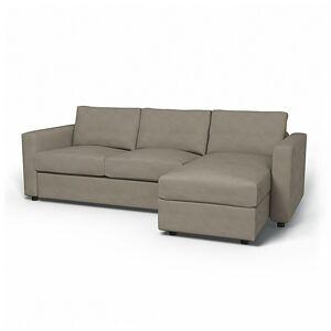Bemz IKEA - Vimle 2 Seater Sofa with Chaise Cover, Sand Beige, Velvet - Bemz
