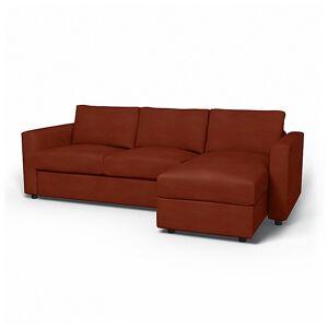 Bemz IKEA - Vimle 2 Seater Sofa with Chaise Cover, Rust, Velvet - Bemz
