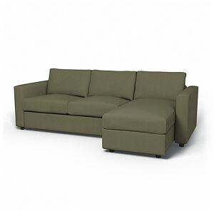 Bemz IKEA - Vimle 2 Seater Sofa with Chaise Cover, Sage, Velvet - Bemz