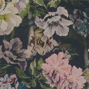 Bemz IKEA - Ektorp Chaise Longue Cover, Delft Flower - Graphite, Linen - Bemz