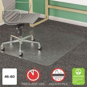 DEFLECTO CM14443F SuperMat Studded Beveled Mat for Medium Pile Carpet, 46w x 60h, Clear