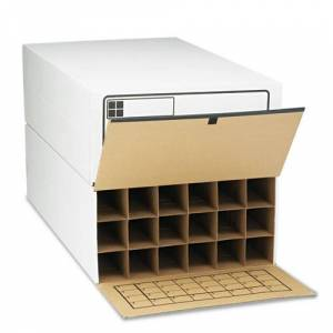 SAFCO 3094 Tube-Stor Roll File, Storage Box, 24 x 37-1/2 x 12, White, 2/Ctn