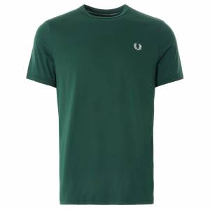 Fred Perry Ringer T-Shirt   Ivy   M3519-406