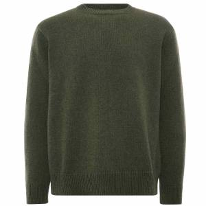Universal Works Loose Crew Recycled Wool   Cool Green   25409-CGN