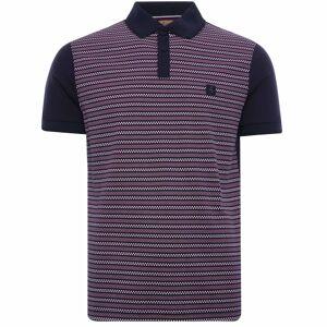 55870 Mills Geometric Design Polo Shirt - Navy