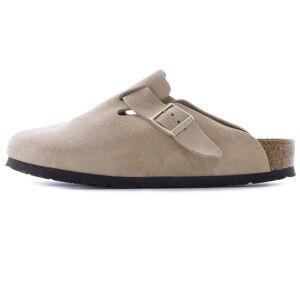 Birkenstock Boston Soft Footbed Suede Leather   Nude   1021270-NUD