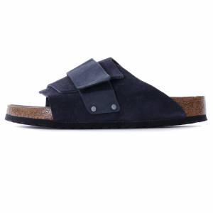 Birkenstock Kyoto Soft Footbed Nubuck Suede Leather   Midnight   1019260-MID