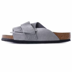 Birkenstock Kyoto Soft Footbed Nubuck Suede Leather   Whale Grey   1019744-GY