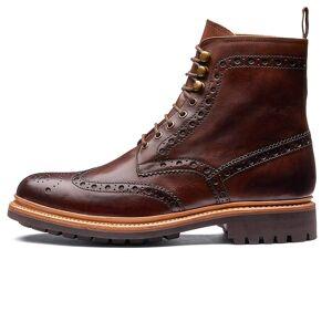 Grenson Fred Brogue Boot - Dark Brown 111395
