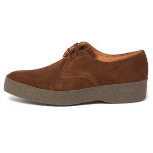 Sanders & Sanders Ltd. Sanders Lo Top Suede Shoe   Snuff   7995SS