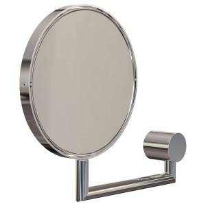 Frost Nova2 magnifying wall mirror, polished steel