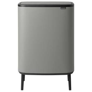 Brabantia Bo Touch Bin Hi, 2 x 30L, Sense of Luxury, grey