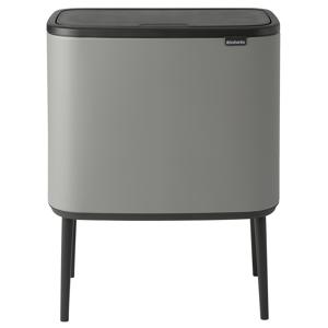 Brabantia Bo Touch Bin 3 x 11 L, Sense of Luxury, grey