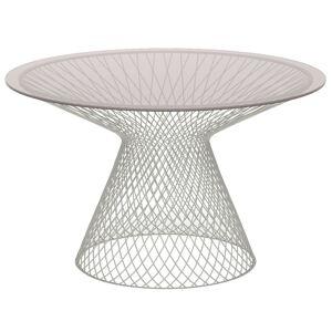 Emu Heaven table 120 cm, matt white, glass top