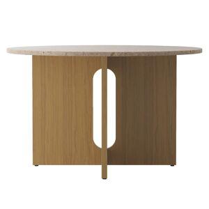 Menu Androgyne dining table 120 cm, oak - Kunis Breccia stone