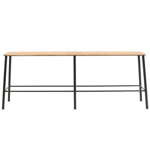 Frama Adam bench 120 cm, oak - matt black