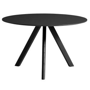 HAY CPH20 round table 120 cm, black oak - black lino