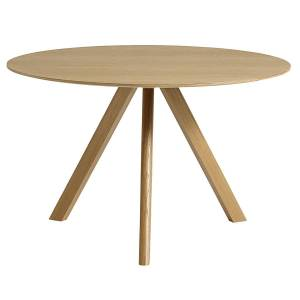 HAY CPH20 round table 120 cm, lacquered oak