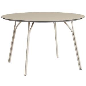Woud Tree dining table, round 120 cm, beige