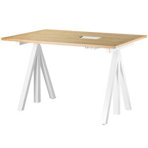 String Furniture String Works height adjustable work desk, 120 cm, oak