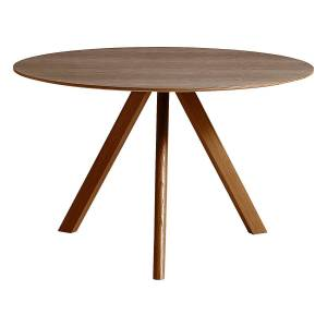 HAY CPH20 round table 120 cm, lacquered walnut