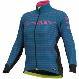 Alé Women's Graphics PRR Green Road Jacket - Azure Blue-Fluro Pink;