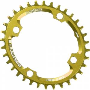 Blackspire Snaggletooth Narrow Wide Oval Chainring - 4-Bolt - Gold