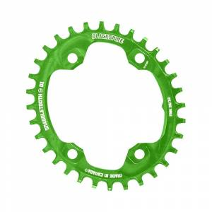 Blackspire Snaggletooth NW Oval Chainring XT M8000 - 4-Bolt - Lime Green