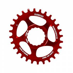 Blackspire Snaggletooth Cinch Offset Oval Chainring - Direct Mount - Red