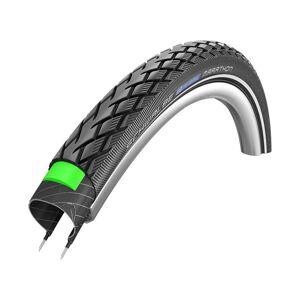 Schwalbe Marathon Touring Tyre - GreenGuard - Wire Bead - Black - Reflex; Unisex