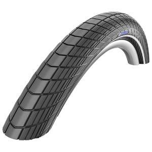 Schwalbe Schwalbe Big Apple City Tyre - RaceGuard - Wire Bead - Black - Reflex; Unisex