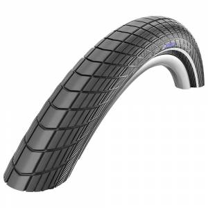 Schwalbe Schwalbe Big Apple City Tyre - RaceGuard - Wire Bead - Black - Reflex;